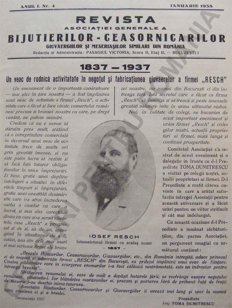 articol 1938 | Gazeta Bijiutierilor si Ceasornicarilor