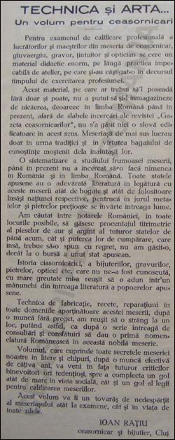 Revista Asociatiei Bijuterilor si Ceasornicarilor | martie.1938