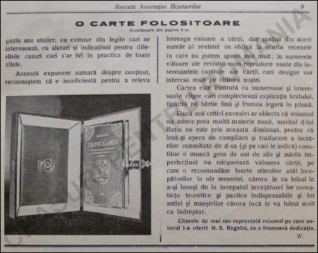 Revista Asociatiei Bijuterilor si Ceasornicarilor | sept.1938
