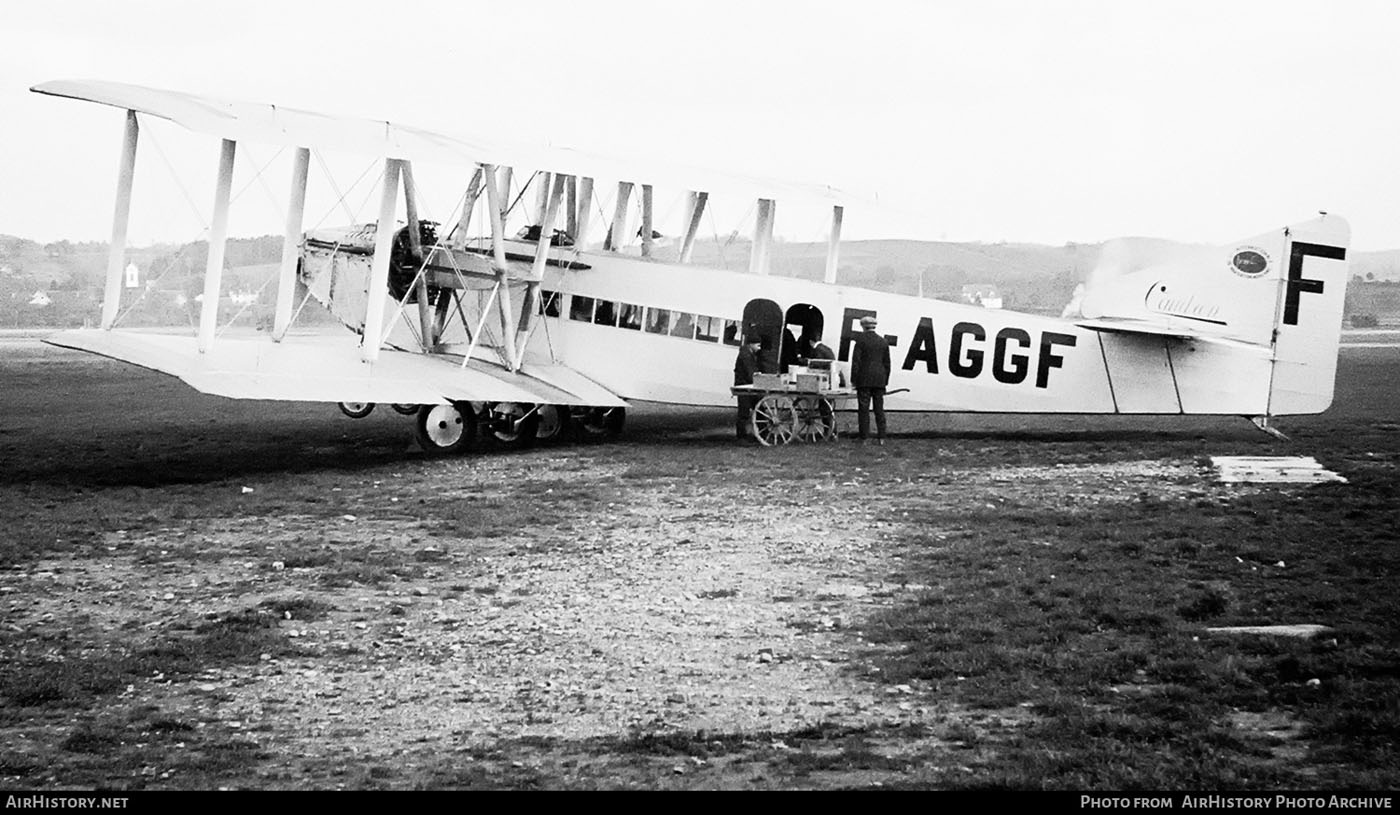 avion Caudron C.81 (aeroport baza: Dübendorf - Elvetia) | inmatriculare F-AGGF | CIDNA (1925)