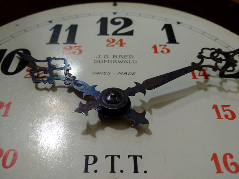 pendula perete (mica) PTT - J.G. Baer