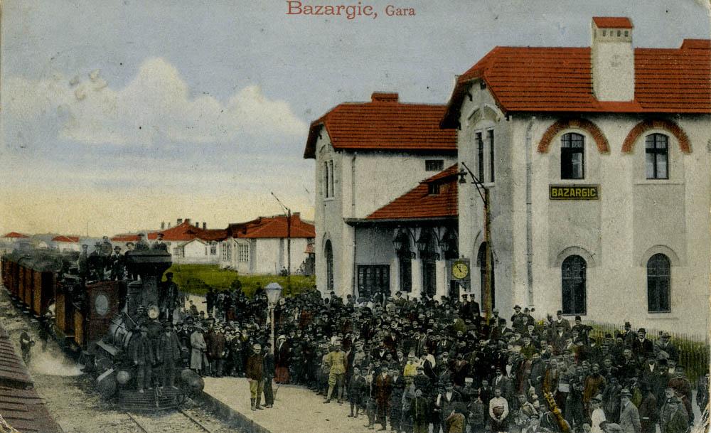 Bazargic (Dobrici) | gara - carte postala 1920