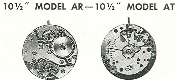 "Benrus 10 1/2"" model AR - AT"
