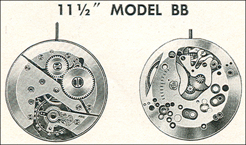 "Benrus 10 1/2"" model BB"