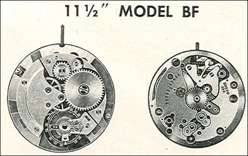 "Benrus 11 1/2"" model BF"