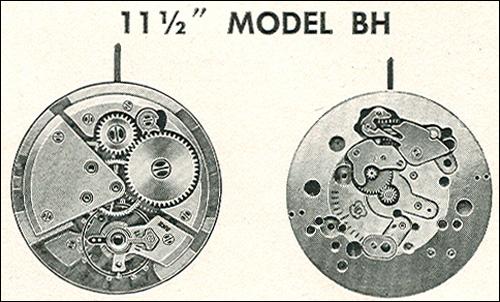 "Benrus 11 1/2"" model BH"