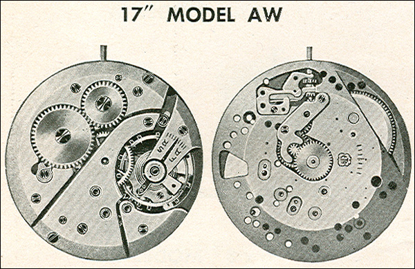 "Benrus 17"" model AW"
