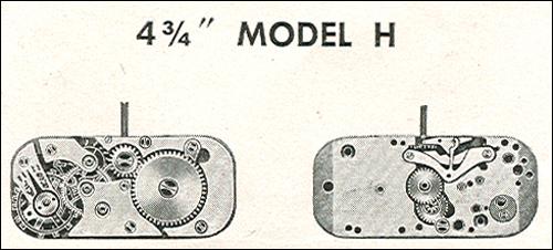 "Benrus 4 3/4"" model H"