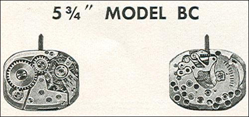 "Benrus 5 3/4"" model BC"