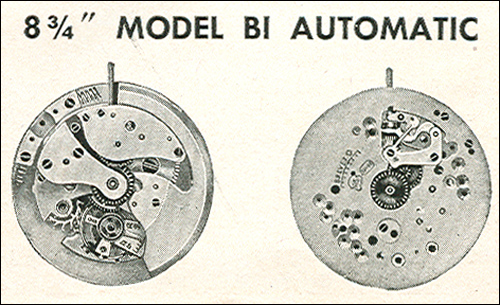 "Benrus 8 3/4"" model BI automatic"