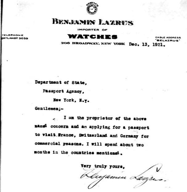 declaratie BL | 1921