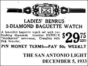 [13] Benrus Baguette | 1932
