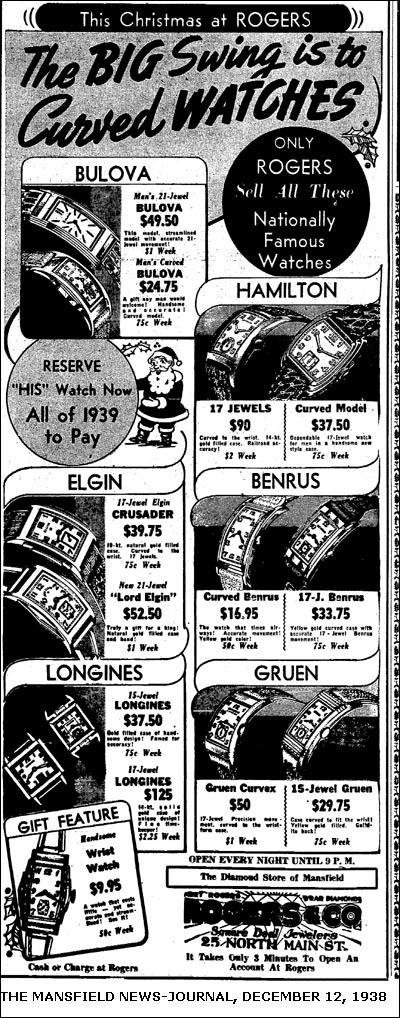 [15] ceasuri 'Curved' | 1938