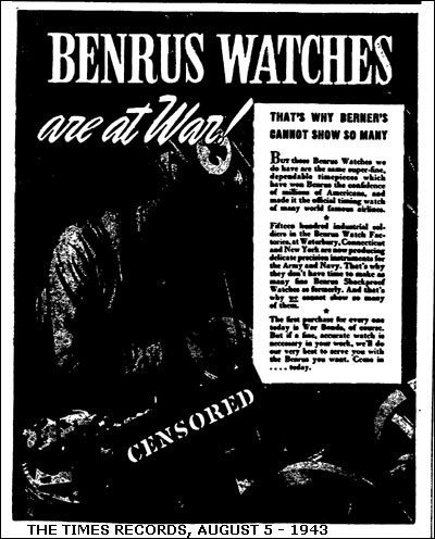 Benrus at war | 1943
