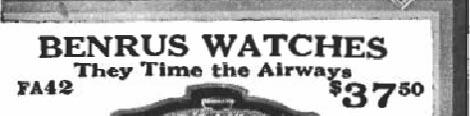 slogan 1 Benrus | 1931