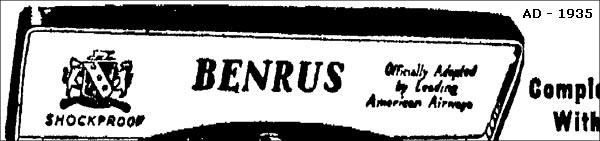 slogan 3 Benrus | 1935