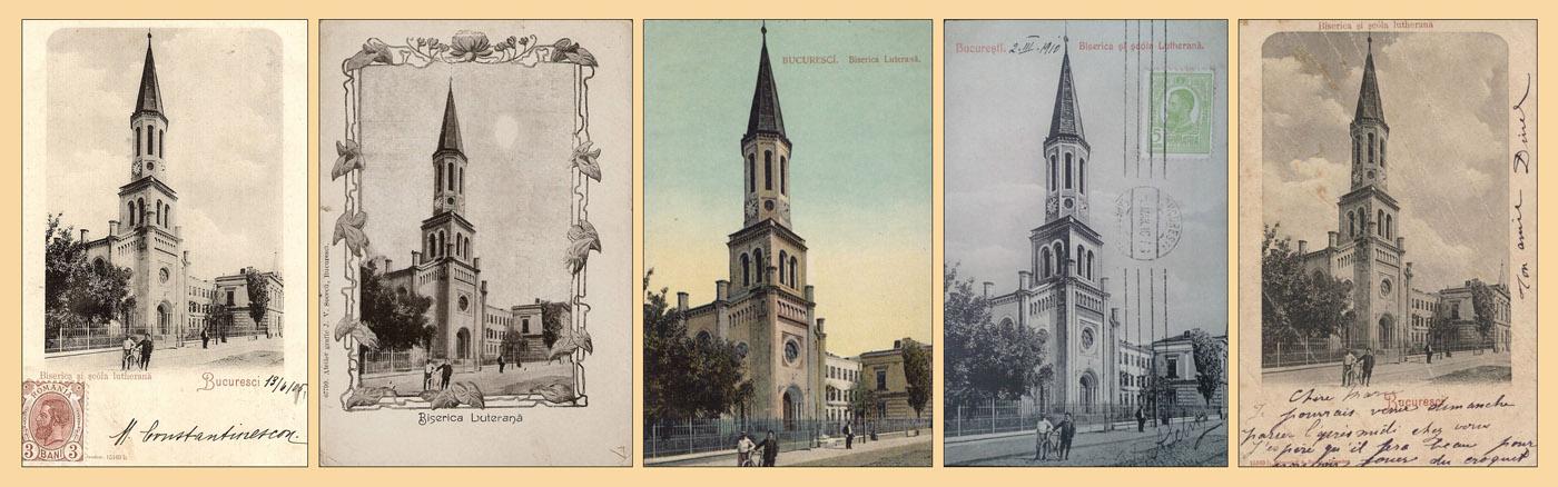 Biserica Luterana - Bucuresti | carti postala 1900-1910