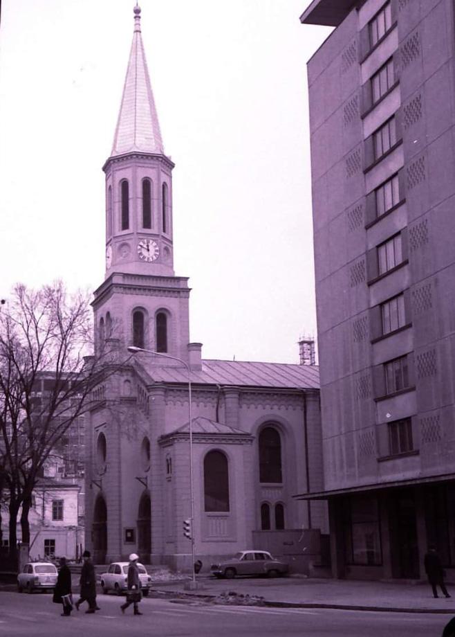 Biserica Luterana - 1968 | sursa imagine: Facebook