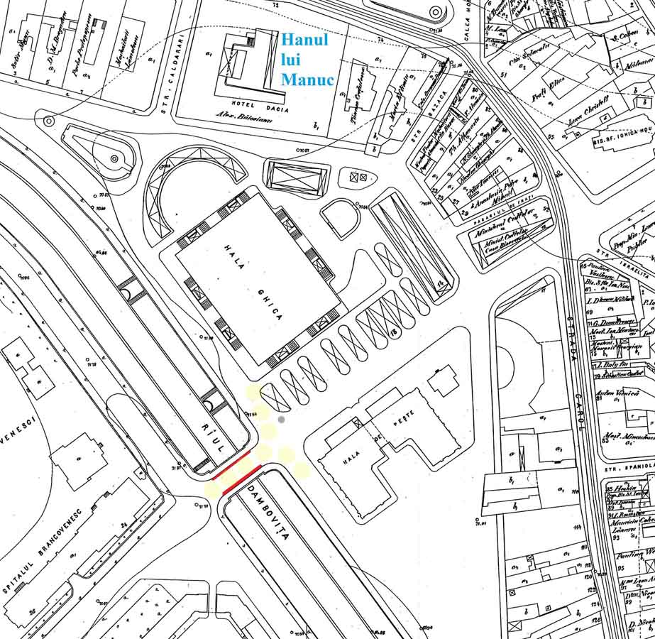 localizare ceasornic halele comunale | Bucuresti (harta prin amabilitatea lui Dan Rosca | Bucurestii Vechi si Noi)