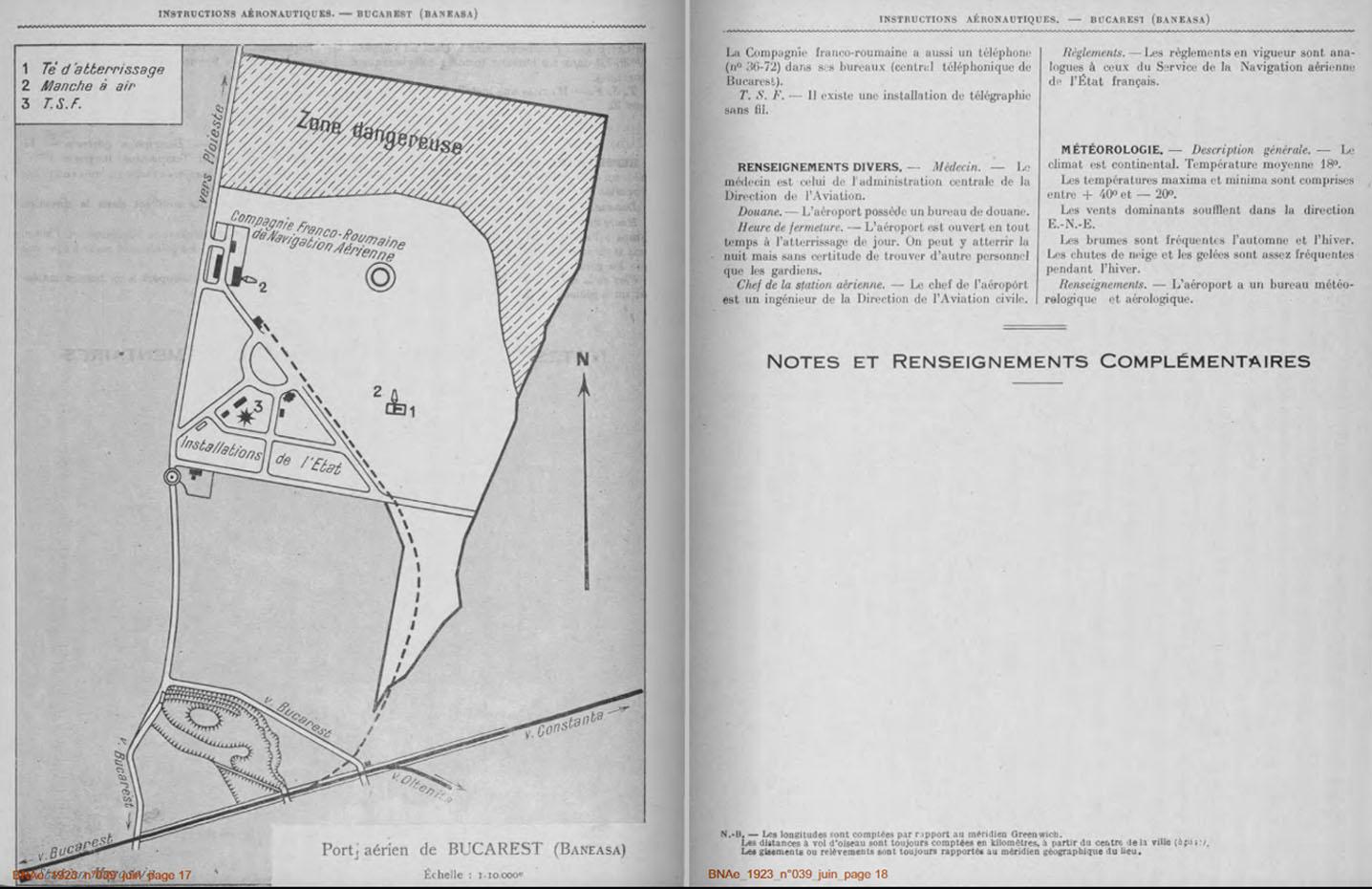 Bulletin de la Navigation Aeriene (Franta) | nr. 39/iunie.1923 | pag. 17-18