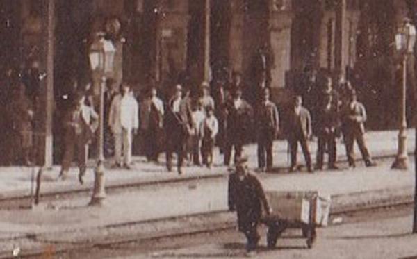 Buzau | gara in anii 1920 / ceas Paul Garnier