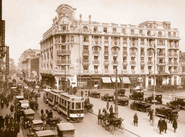 calea Victoriei | cca. 1920 (sursa imagine: Cristina Iosif @ unknowbucharest.com)