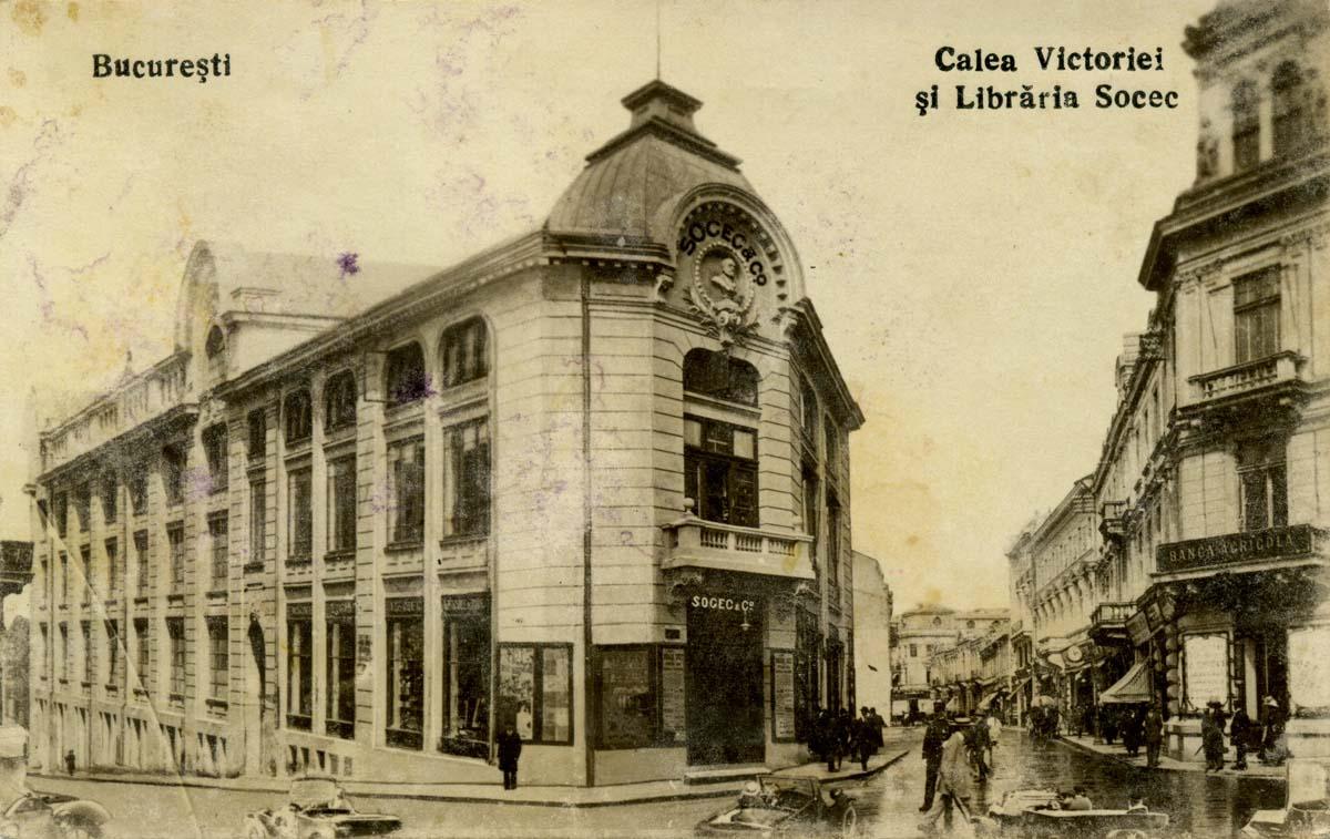Calea Victorie | libraria Socec | inceput de sec. XX