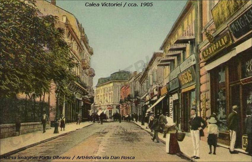 calea Victoriei | cca. 1905 (sursa imagine: Radu Oltean @ ArtHistoria)