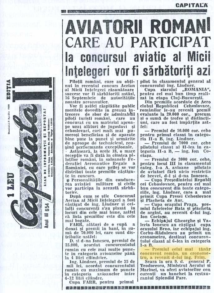 extras presa cronometru - Alexandru 'Dudu' Frim - 1939