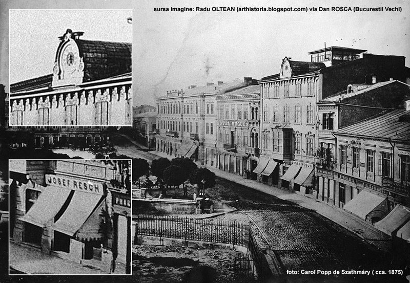 casa Resch | calea Victoriei nr. 36 (foto: Carol Popp de Szathmari | 1875)