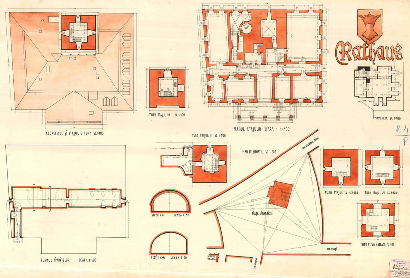 releveu Facultatea de Arhitectura Bucuresti - 1942 | Casa Sfatului - Brasov