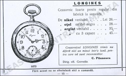 Longines ceasornicaria Coltei
