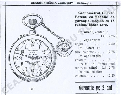 Cronometrul CFR Patent