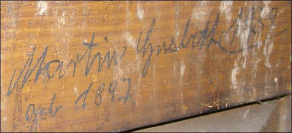 inscriptii cutie ceas - Biserica Neagra