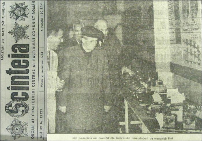 vizita N. Ceausescu - Mecanica Fina | 1.noiembrie.1984