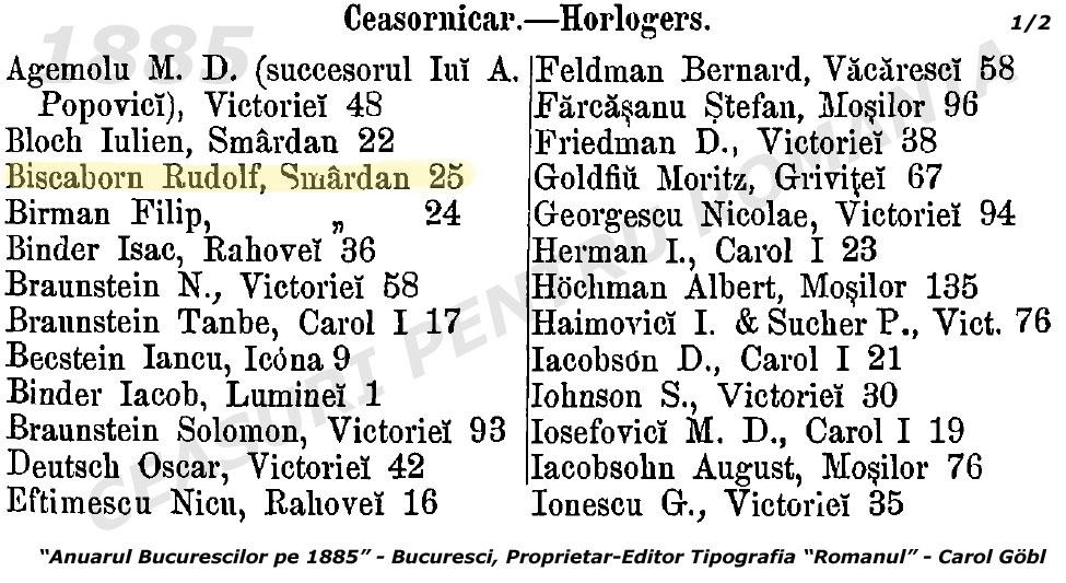 Tabloul breslei | Rudolf Biscaborn | 1885