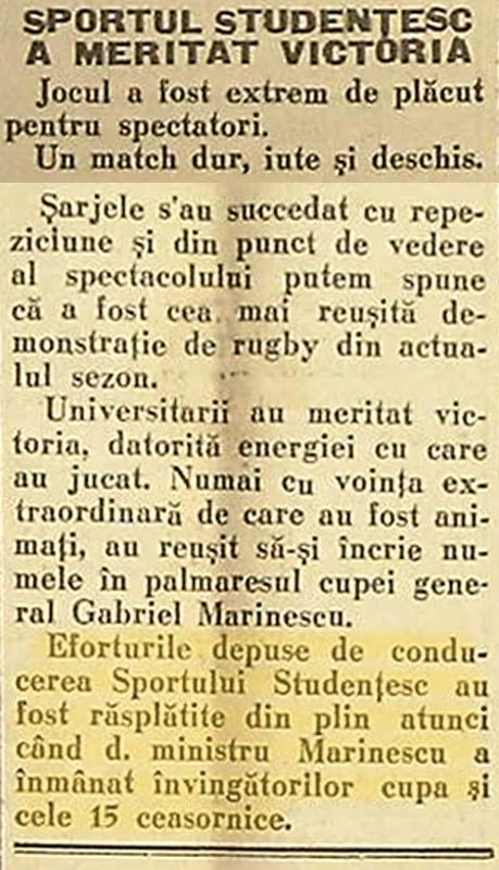 Gazeta Sporturilor | nr. 2605 | autor:  Gabriel Maierescu - 30 noiembrie 1930, p.6