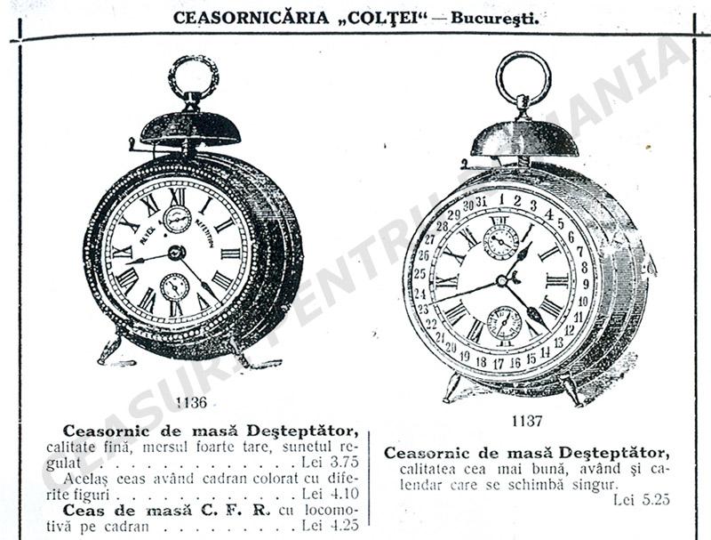 ceasuri tip CFR - catalog Coltei