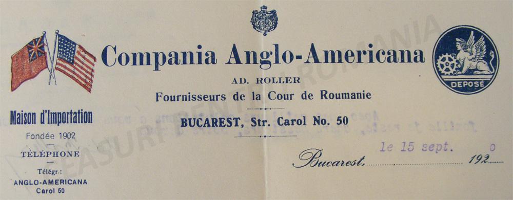 Compania Anglo Americana | antet 1920