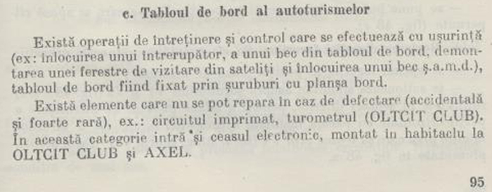 """Conducerea si intretinerea autoturismelor Olcit"" 