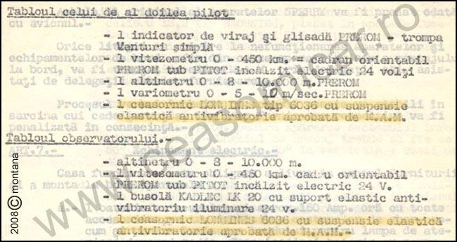 [17] SM-79B | Lista echipamente bord