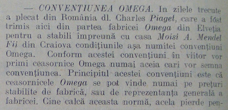 """Conventiunea Omega"" | Moisi A. Mendel | 1930"