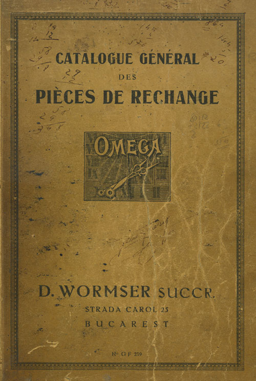 catalogue Omega | Wormser - 1926