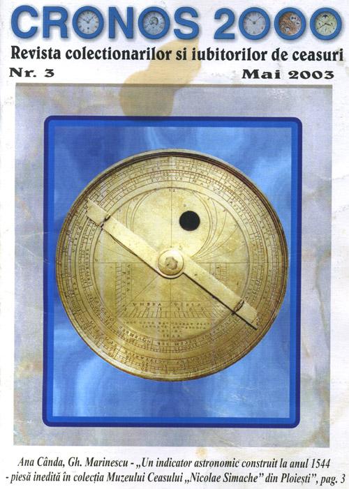 Cronos 2000 | an 2 | nr. 3 - mai.2003