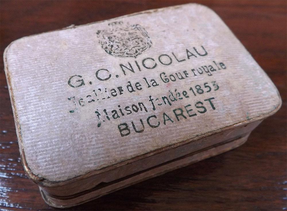 """cutie de bijuterii """"Gh. C. Nicolau"""""""