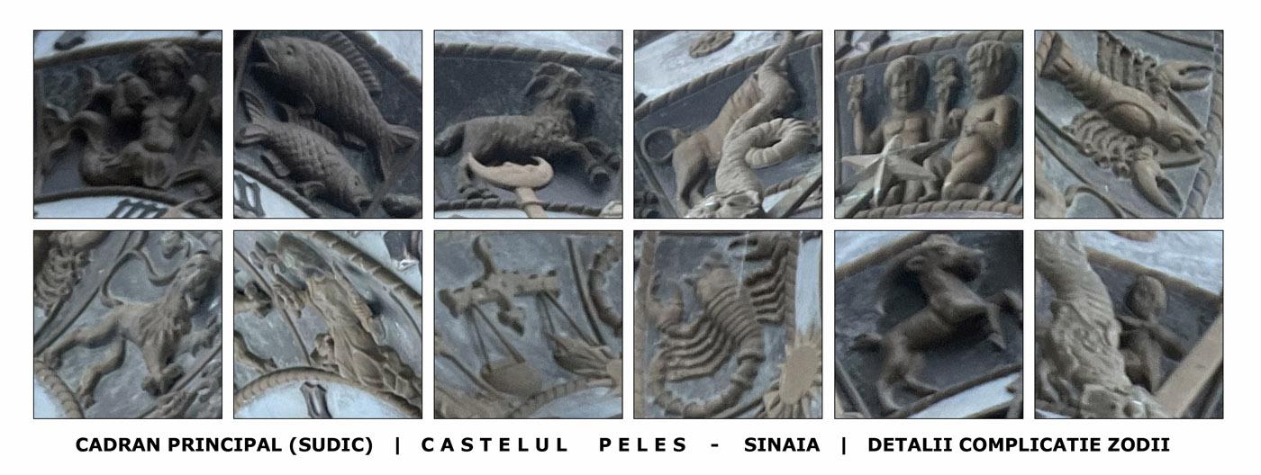 Castelul Peles - ceas de turn Johann Manhardt | complicatie zodii
