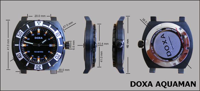 Doxa Aquaman - dimensions
