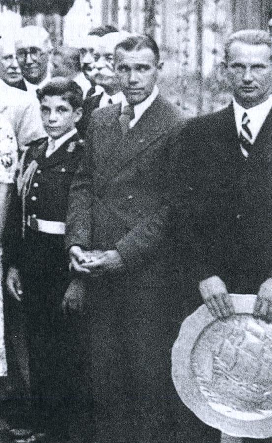 "Alexandru Frim - in 1937 la Cupa Cantacuzino | fotografie din colectia ""Fundatia Memoriala Romana Mircea si Dan Cantacuzino"""