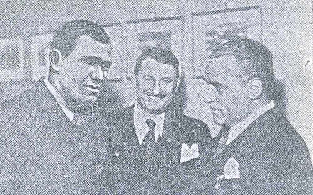 Alexandru Frim - 1938 alaturi de Cezar Petrescu (imagine din ziarul Romania - 18.09.1938)