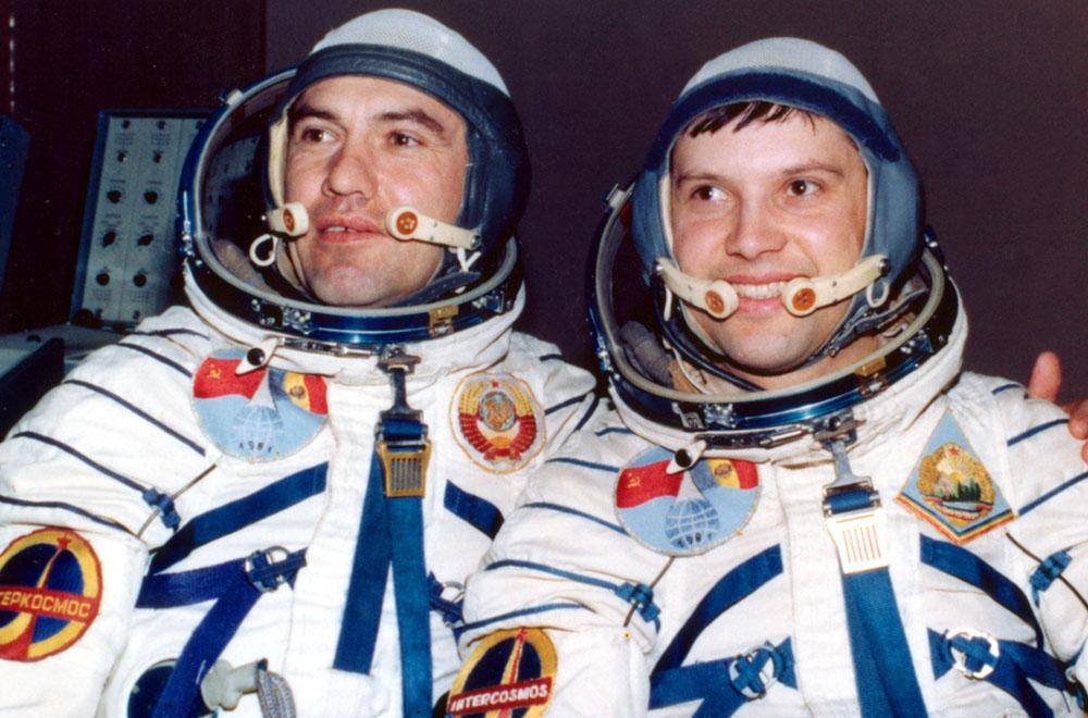 Dumitru Prunariu si Leonid Popov | Soiuz 40